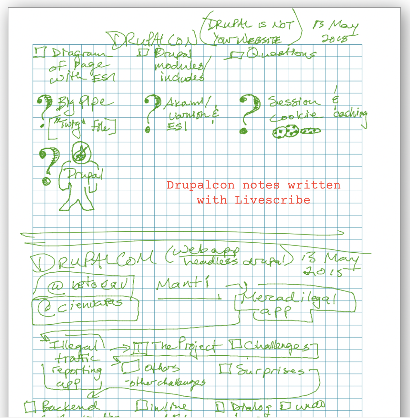 Livescribe in Evernote